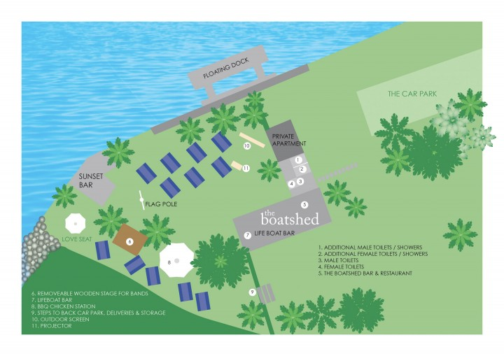 THE BOATSHED MAP